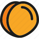 dessert, food, fruit, fruits, healthy, organic, peach icon