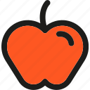 apple, dessert, food, fruit, fruits, healthy, organic icon