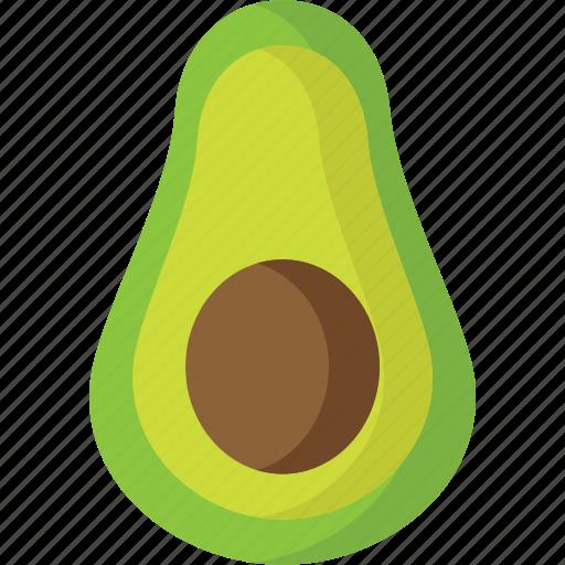 avocado, dessert, food, fruit, fruits, healthy, organic icon
