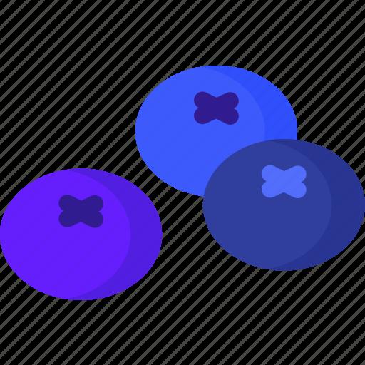 blueberries, dessert, food, fruit, fruits, healthy, organic icon