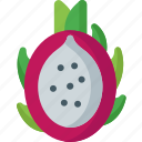 dessert, dragon, food, fresh, fruits, healthy, organic icon
