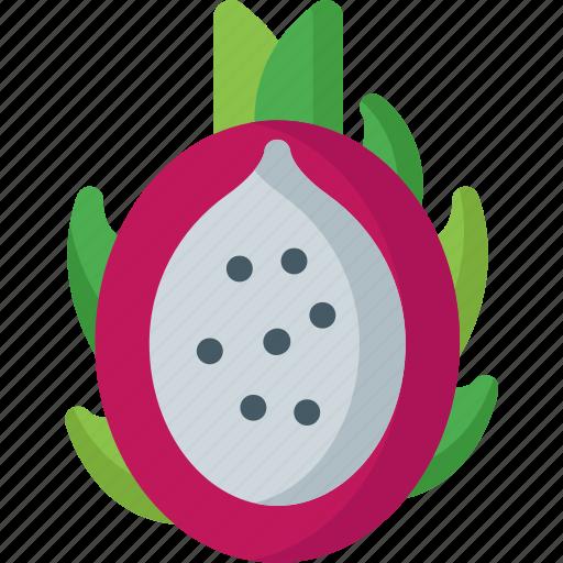 dessert, dragon, food, fresh, fruits, healthy, organic icon