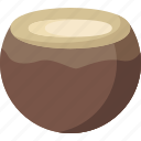 coconut, dessert, food, fruit, fruits, healthy, organic icon