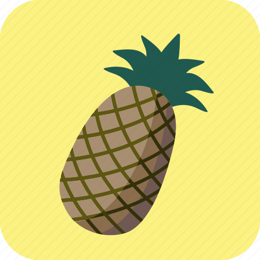 ananas, food, fruit, pineapple, tropical icon