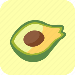 avocado, food, fruit, half, piece, tropical icon