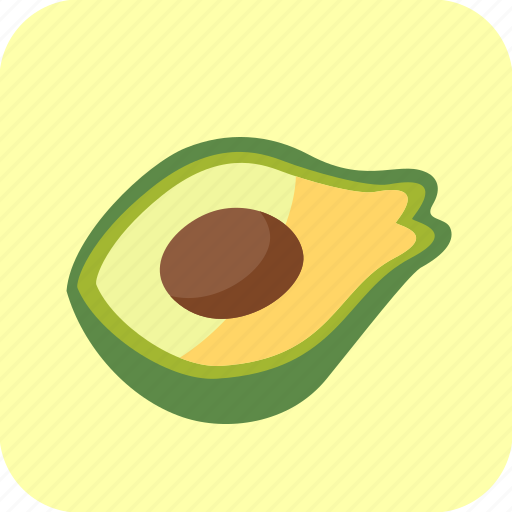 avocado, food, fruit, half, piece, tropical icon