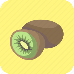 food, fruit, half, kiwi, kiwifruit, piece, tropical icon