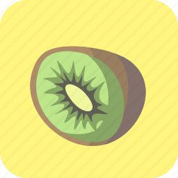 food, fruit, half, kiwi, kiwifruit, piece, tropical icon