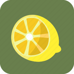 food, fruit, half, lemon, piece, tropical icon