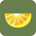 food, fruit, lemon, piece, slice, tropical icon