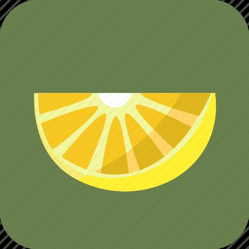 food, fruit, lemon, piece, slice, tropical icon