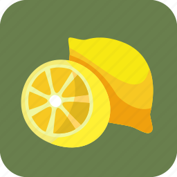 food, fruit, half, lemons, piece, tropical icon