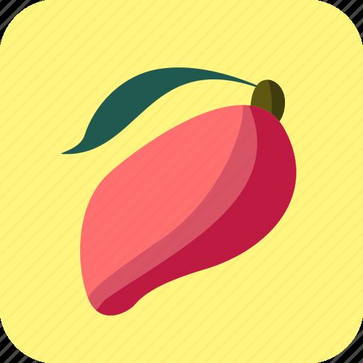 food, fruit, mango, tropical icon