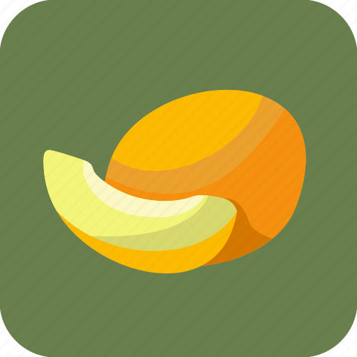 food, fruit, melons, piece, slice icon