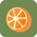 food, fruit, half, orange, tropical icon