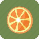food, fruit, orange, piece, slice, tropical icon