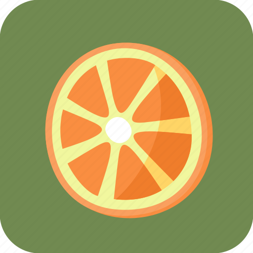 food, fruit, orange, piece, slice, tropical icon