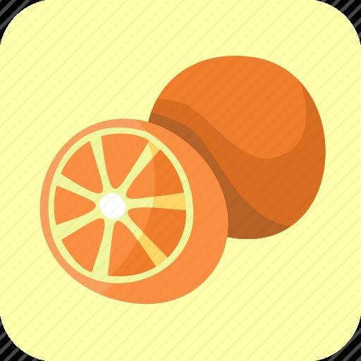 food, fruit, half, oranges, piece, tropical icon