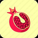 food, fruit, half, piece, pomegranate icon