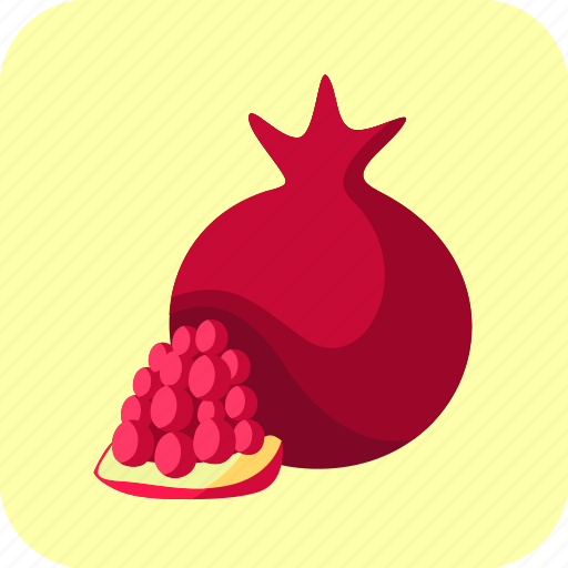 food, fruit, piece, pomegranate icon