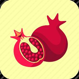 food, fruit, half, pomegranates icon