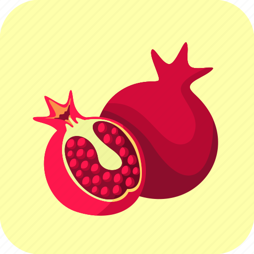 food, fruit, half, pomegranates icon