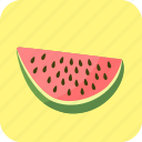 big, food, fruit, piece, slice, watermelon icon