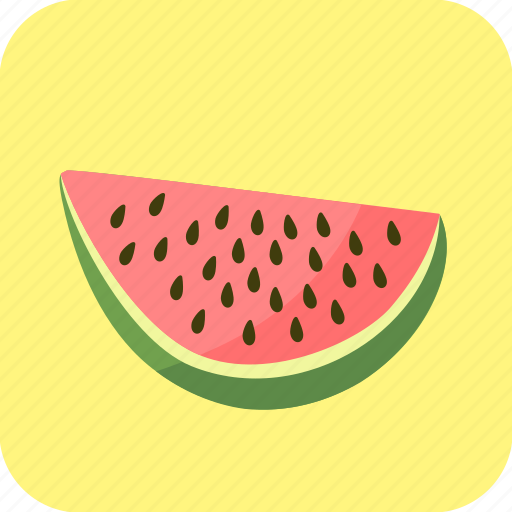 big, food, fruit, piece, slice, watermelon icon