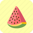 food, fruit, piece, slice, watermelon icon