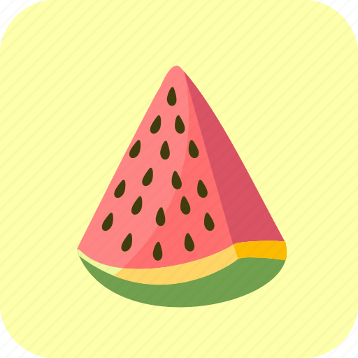 food, fruit, piece, slice, watermelon icon