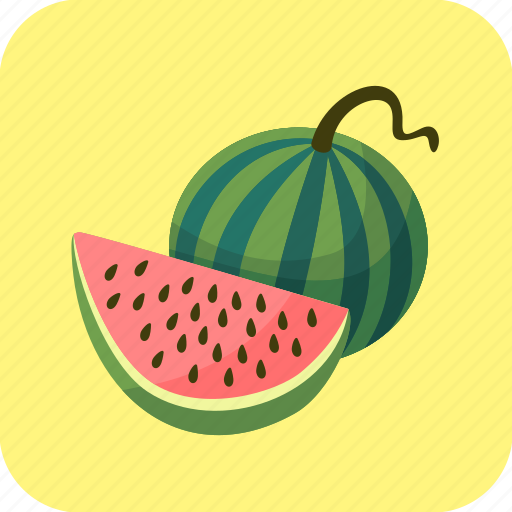 food, fruit, piece, slice, watermelons icon