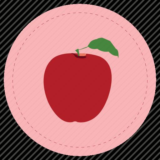 apple, fruit, manzana, red icon
