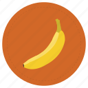 banana, fruit, platano, yellow icon