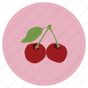cherry, fruit, guinda, leaf, red