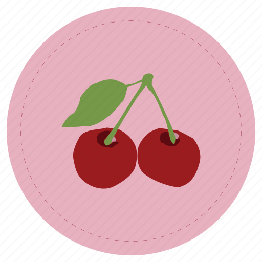 cherry, fruit, guinda, leaf, red icon