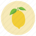 fruit, leaf, lemon, limon, yellow icon