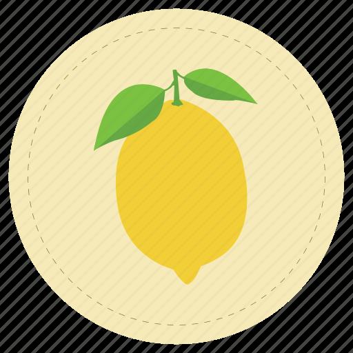 fruit, leaf, lemon, limon, yellow icon