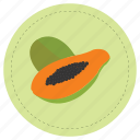 fruit, green, papaya, tropical icon