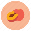 durazno, fruit, peach icon