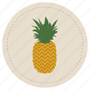 brown, fruit, leaf, pineapple, piña, tropical icon