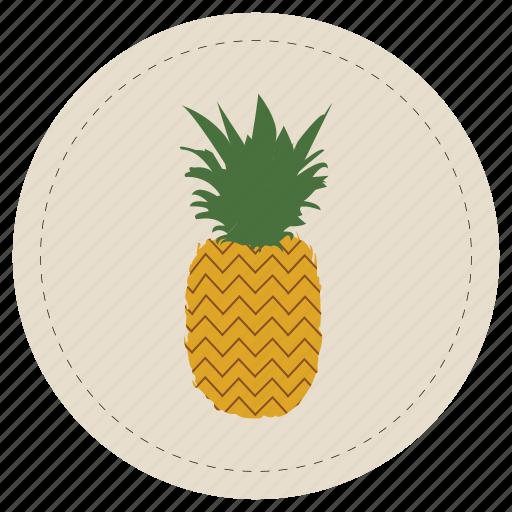 brown, fruit, leaf, pineapple, piña, tropical icon