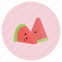 fruit, red, sandia, watermelon icon