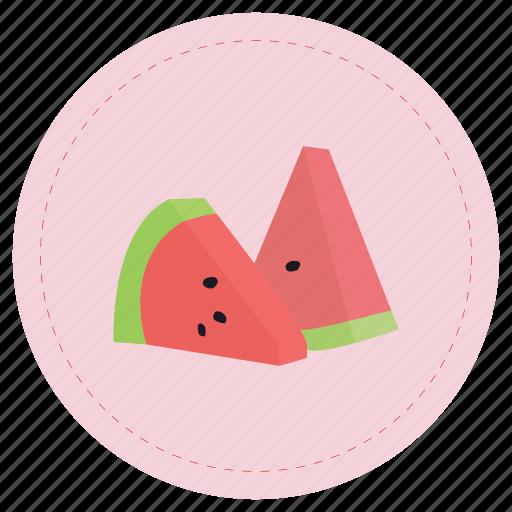 fruit, red, sandia, watermelon icon