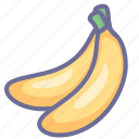 banana, banans, fruit, sweet icon