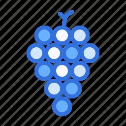 fruit, grapes, wine icon
