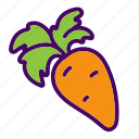 carrot, cooking, food, healthy, kitchen, vegetable icon