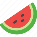 fruit, watermelon, slice, red