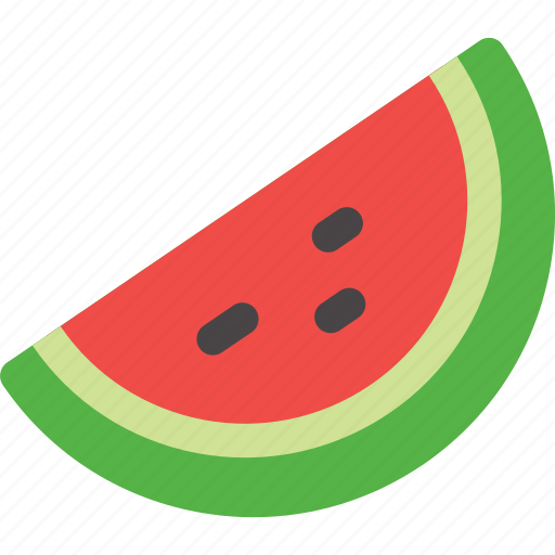 fruit, red, slice, watermelon icon