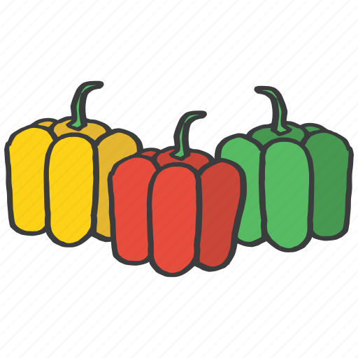 bell, food, fresh, fruit, healthy, pepper, vegetable icon