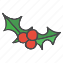 berries, berry, cherries, christmas, fruit, healthy, vegetable icon